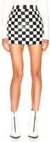 Ashish Sequin Mini Skirt in Checkered & Plaid,White.