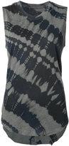 Raquel Allegra tie dye tank top - women - Cotton/Polyester - 0