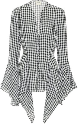 KHAITE Exclusive to Mytheresa Elliot gingham shirt