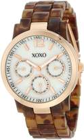 XOXO Women's XO5510 Tortoise Bracelet with Rose Gold Case Watch