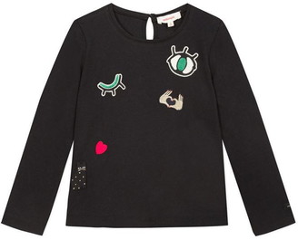 Catimini Black T-Shirt With Patches