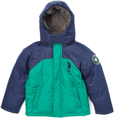 U.S. Polo Assn. Lake Green & Navy Puffer Coat - Toddler & Boys