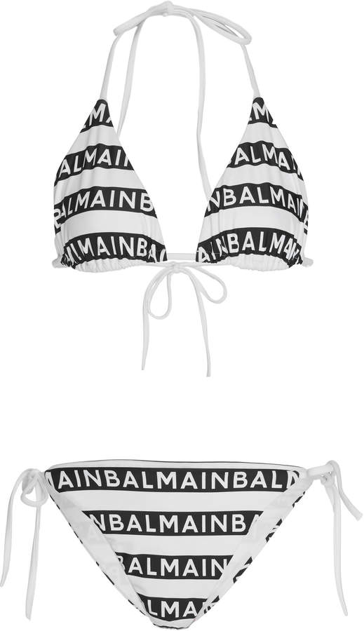 2329e96ad89 Black With White Stripe Bikini - ShopStyle