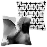 Urban Road Blanc Et Noir Cotton Cushion