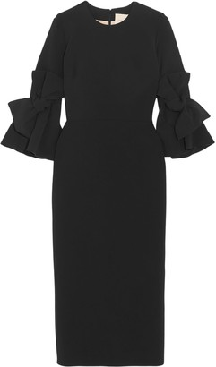Roksanda Lavette Bow-embellished Crepe Midi Dress