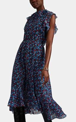 Robert Rodriguez Women's Juli Floral Cotton-Silk Dress - Blue