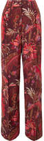 Etro Printed Silk Wide-leg Pants - Pink