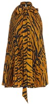 ADAM by Adam Lippes Tiger-Stripe Pleated Halter Top