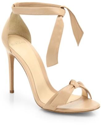 Alexandre Birman Clarita Bow Leather Sandals