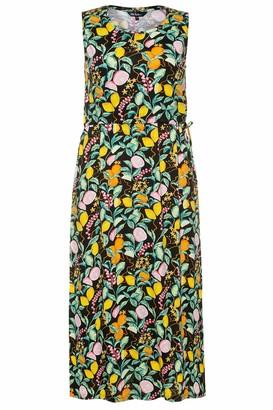Ulla Popken Women's Plus Size Fruit Print Knit Tank Dress Black Multi 28/30 747330 10-54+