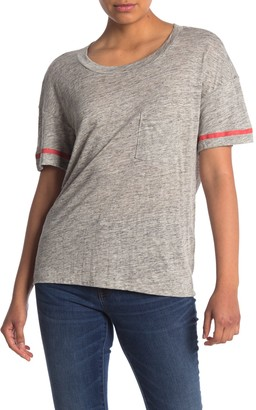 Stateside Stripe Trim Boxy T-Shirt
