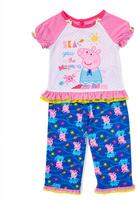 Komar Kids Pink Peppa Pig 'Sea You at the Beach' Pajama Set - Toddler