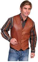 Scully Men's Lambskin Button Front Vest 503 Long