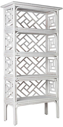 David Francis Furniture Chinese Chippendale Etagere - White