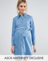 Asos Belted Denim Shirt Dress