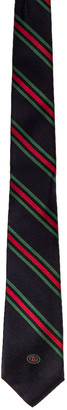 Gucci Tie in Midnight Blue & Red | FWRD