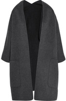 Vince Reversible Wool And Cashmere-blend Cardigan - Gray