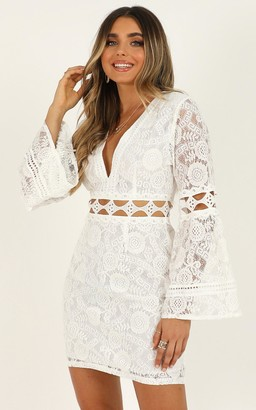 Showpo Edge of Seventeen dress in white lace - 6 (XS) Going Out