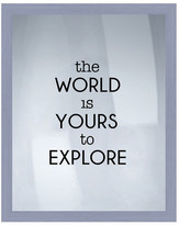 """PTM Images The World Is Yours Framed Silkscreen Wall Art - 16.75"""" x 20.75"""""""