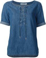 Rag & Bone denim drawstring blouse