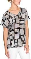 Nic+Zoe NIC + ZOE Falling Cube Silk-blend T-shirt.