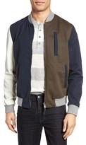 Eleventy Men's Colorblock Bomber Jacket