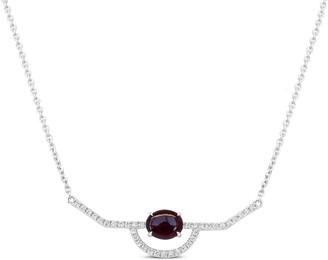 Ri Noor Ruby & Diamond Necklace