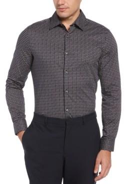Perry Ellis Men's Bold Diagonal Geo Print Long Sleeve Button-Down Stretch Shirt