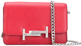 Tod's micro double T shoulder bag - women - Silk/Leather - One Size