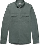Todd Snyder Brushed Stretch-Cotton Twill Shirt