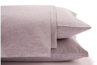 Belle Epoque Heathered Flannel Sheet Set - Lilac Cal King