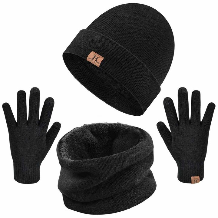 Neusky Unisex Hat Scarf and Gloves Set
