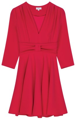 Claudie Pierlot V-Neck A-Line Mini Dress
