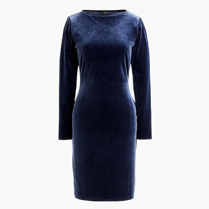Thumbnail for your product : J.Crew Long-sleeve sheath dress in stretch knit velvet