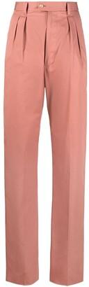 Etro High-Waist Straight Trousers