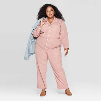 Universal Thread Women's Plus Size Long Sleeve Collared Boiler Jumpsuit