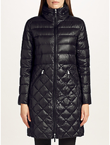 Lauren Ralph Lauren Quilted Full Zip Coat, Black