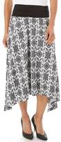 Apt. 9 Women's Print Shark-Bite Midi Skirt