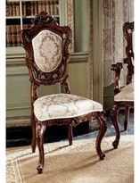 Toscano Toulon French Rococo Fabric Side Chair Design
