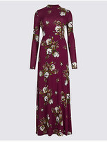 M&S Collection Floral Print Long Sleeve Skater Dress