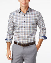 Tasso Elba Men's Big and Tall Long-Sleeve Check Shirt, Only at Macy's