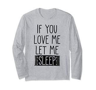 Kids Let Me Sleep Girl Pajamas Love Me Sleepover Bedtime Long Sleeve T-Shirt