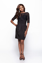 Milano Formals - Lace Mesh Â3⁄4 Sleeved Gown Dress E2084