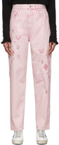 Etoile Isabel Marant Pink Embroidered Corsyb Jeans
