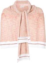 Sonia Rykiel printed tweed half sweater