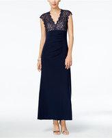 Xscape Evenings Petite Lace Open-Back Gown