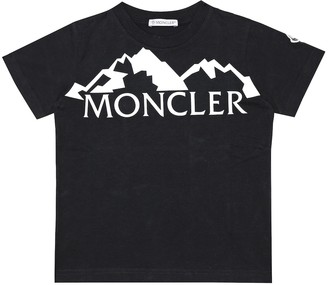 Moncler Enfant Logo cotton T-shirt