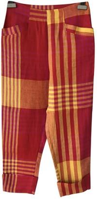 Christian Lacroix Red Linen Trousers for Women Vintage