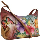Anuschka 450 Medium Zippered Hobo Shoulder Handbags