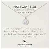 Dogeared Maya Angelou: Love Life, Engage In It Necklace Necklace